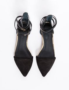 Python pointy wrap flats -Fashion -Super-Market