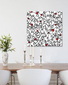 Tableau Design gouttes- Toile décorative contemporaine, moderne, abstrait et Design Gali Art ®