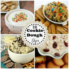 18 of the Best Cookie Dough Dips serve with cookies, pretzels or graham cracker sticks (no raw eggs)!