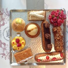 """""""snack"""" at Maison Christian Faure in #Montreal #pastry #French #dessert #cake #tart #éclairs #sweet #treat  © Will Travel for Food"""