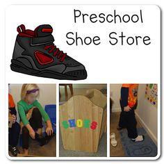Dramatic Play Shoe Store via www.prekinders.com #preschool #kindergarten