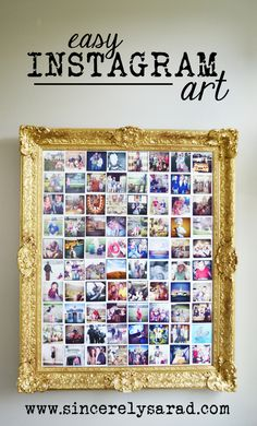 Easy Instagram Art using an old frame and Mod Podge!