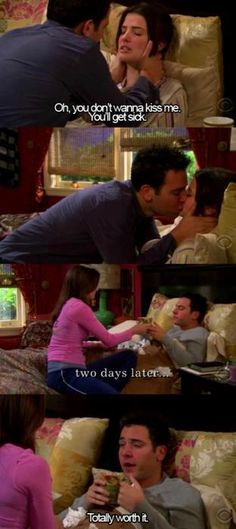 Ted & Robin (I still like robin with barney but this is a cute scene)