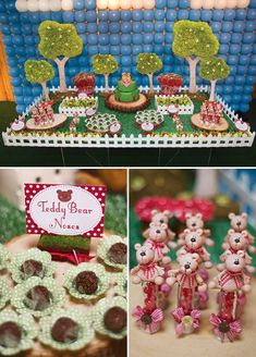 Teddy Bear Garden Picnic Birthday Party