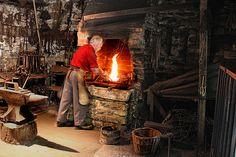 Irish Blacksmith. Ulster Folk park, Co Omagh.