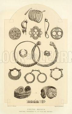 Celtic relics. Illustration from The Comprehensive History of England (Gresham Publishing, 1902).