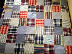 I want to make a quilt using upcycled men's shirts