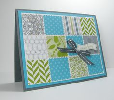 Stampin' Up! Baby  by Allison O at nice people STAMP!: Baby Quilt Card