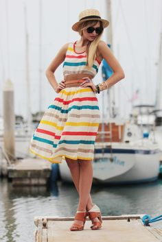 Love the colours in her dress.
