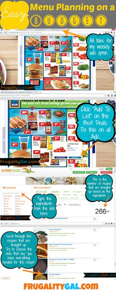 Quick and easy tutorial to plan your meals and save money. Pin now, read later!