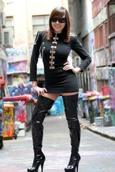 thigh high, boot thigh, hot dress, thigh boot
