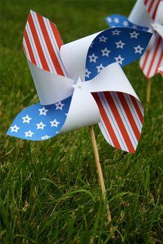 Free printable 4th of July pinwheel