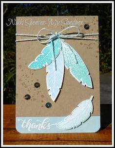 Nikki Spencer-My Sandbox: Four Feathers Thank You Notes...