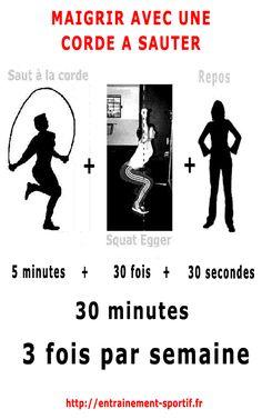 programme pour maigrir avec une corde a sauter