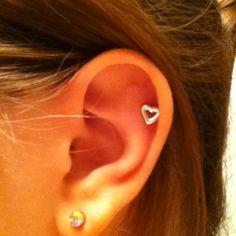 Heart cartilage earring