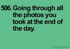 Just Little Things. Photos.