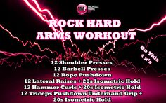 Tone the ARMS with these #EXERCISES. ROCK HARD ARMS.