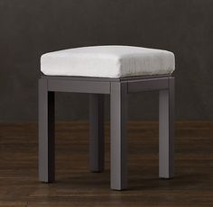 Restoration Hardware bathroom vanity stool - master bathroom makeup/vanity table