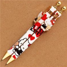 white Hello Kitty cat mechanical pencil Sanrio