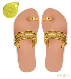Go for the gold! #metallics #nailpolish #sandals