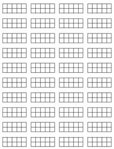 Mini 10 Frames and other printables for Math Journals