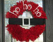 christmas wreaths, holiday wreaths, craft, christmas holidays, belt, door, christmas ideas, the holiday, diy christmas