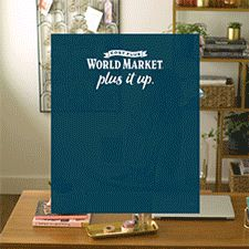 Transforming a small space is easy at Cost Plus World Market! Turn that unused corner or extra room into a compact home office by adding a small-size desk and office chair. Put stylish shelving along the walls to create a place for storage and accessories. For more tips and 1000s of small space furniture, lighting and decor pieces, shop Cost Plus World Market! #WorldMarket #HomeDecor #SmallSpaces #PlusItUp