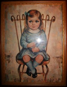 medeiros girl in chair. part of my collection.