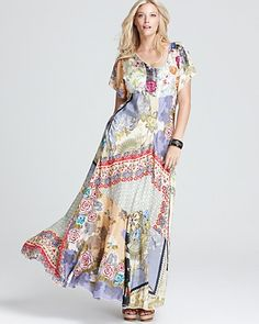 Johnny Was Collection Plus Patch Maxi Dress - Plus Sizes - Bloomingdale's
