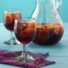 Topsy-Turvy Sangria - have made it for parties and it is ALWAYS a hit.  People always want the recipe.