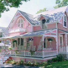 Pink Gingerbread House ~ Martha's Vineyard ~ Words cannot describe it to it's fullest...