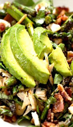Chicken Bacon Avocado Salad avocado salad, asparagus salad