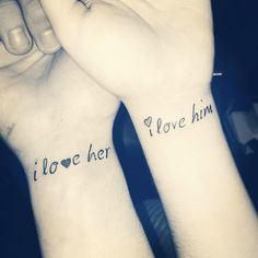 couple tattoos | Tumblr Perfect for married couples. <3