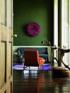 Warm hunter green and warm royal purple. Damn it. I have no idea what I want to paint the bedroom.