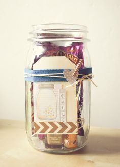 AppleJane: handmade / DIY get well gift jar