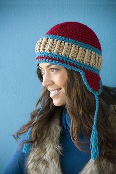 "Pattern for ""Snowy Day Hat"" in Crochet Today Jan/Feb 2010 issue."