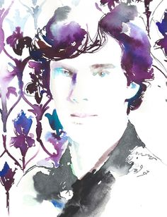 Celebrating the return of Sherlock! Original painting and print requests available via Etsy
