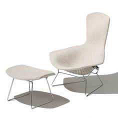 Bertoia Bird Lounge Chair & Ottoman