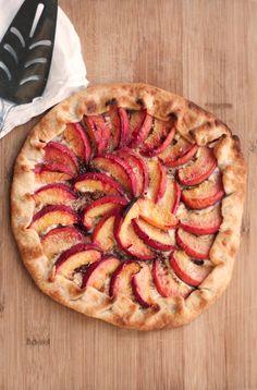 peach and ricotta tart