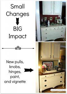 Before and After Antique Dresser...small changes, big impact!