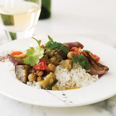 Madras Eggplant, Chickpea, and Tomato Curry
