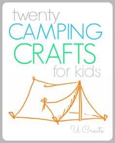 20 Camping Crafts for Kids from U-CreateCrafts.com #camping #crafts #kids