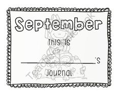 Journal Covers and Starter Words[12 months] from Pioneer Teacher on TeachersNotebook.com -  (25 pages)  - monthly journal covers