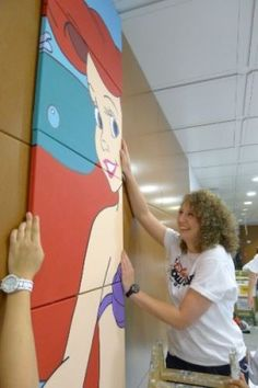 Disney Cruise Line  presented the Hospital General de Catalunya with a larger-than-life Disney character mural as part of the company's commitment to give back to communities in ports of call around the world.