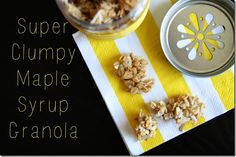 Super Clumpy Maple Syrup Granola
