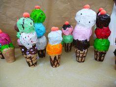 Ice cream cone paper mache - The Calvert Canvas: Adventures in Middle School Art!