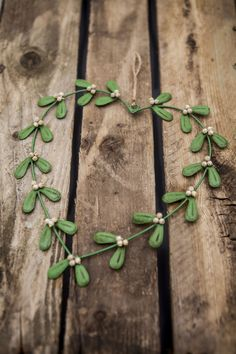 Tin Mistletoe Heart Wreath!  Available soon... www.mosscottage.ie