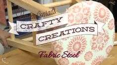 diy fabric covered stool #craftycreations