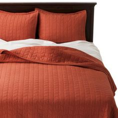 quilt for bedroom---Threshold™ Vintage Washed Cinnamon Cake Bedding Collection
