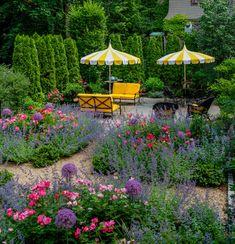 plant, architect, hedg, pink roses, cottage gardens, perennial gardens, garden design ideas, landscape designs, flowers garden